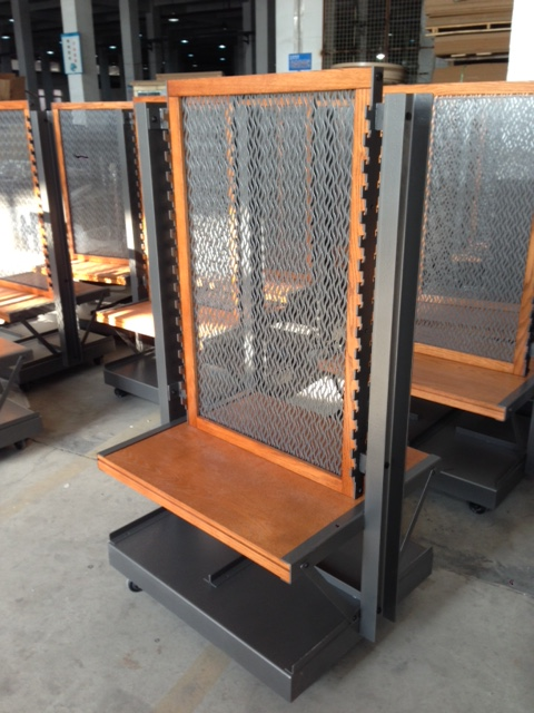 Custom shelving units designed for retail